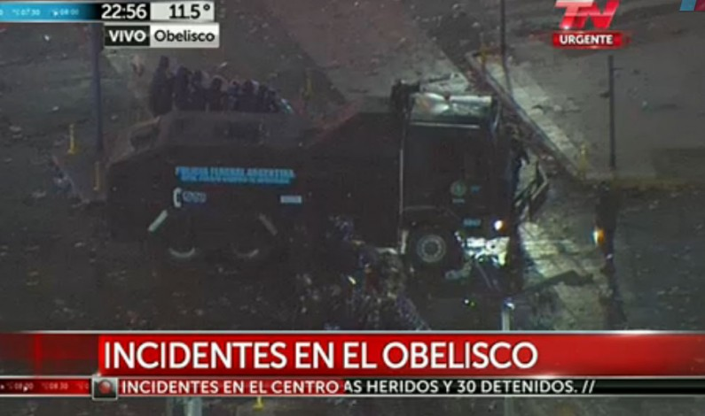 Incidentes en el Obelisco tras derrota de Argentina frente Alemania