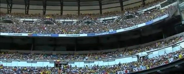 Estadio Bernabeu recibió con honores a james Rodríguez.