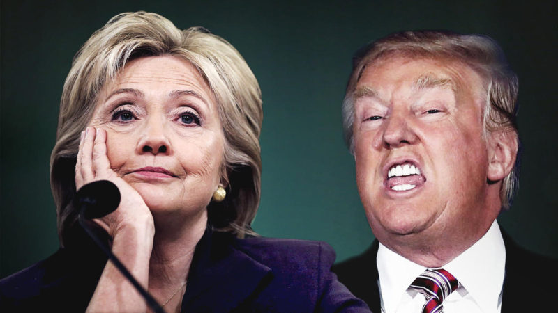 Donald Trump y Hillary Clinton. Foto archivo.