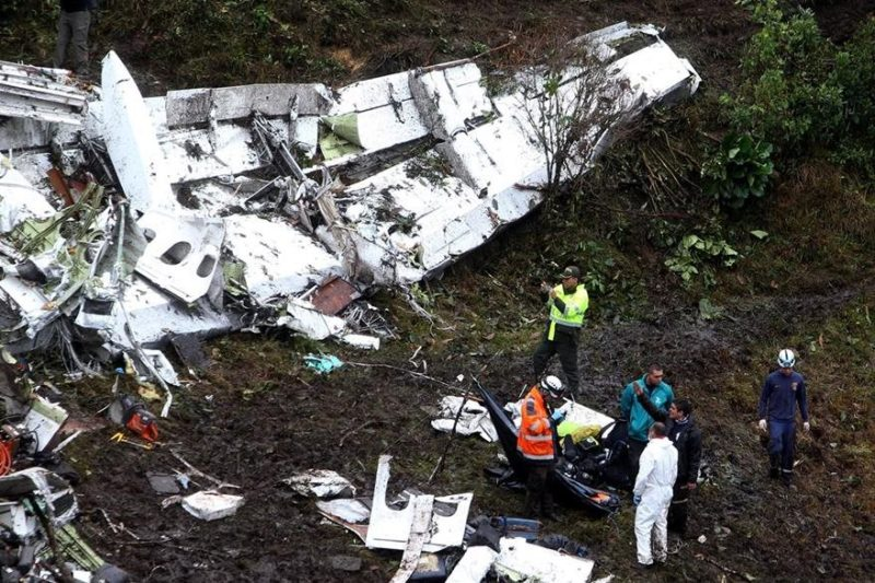 Avión accidentado en La Ceja, Antioquia. Foto de Red de Prensa colombiana.